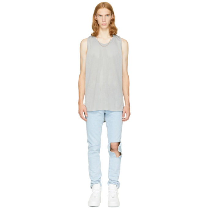 Fear of God Grey Mesh Tank Top
