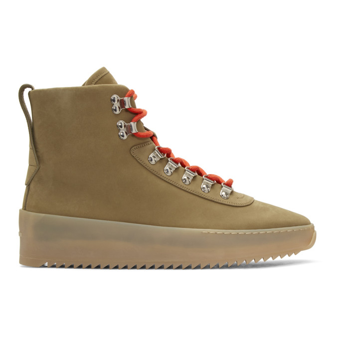 Image of Fear of God Beige Hiking Boots