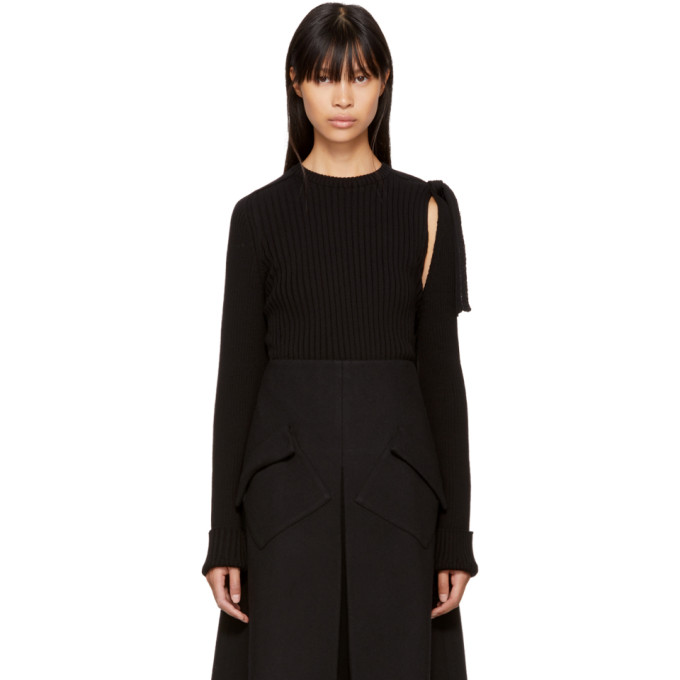 Image of Sara Lanzi Black Detached Sleeve Pullover