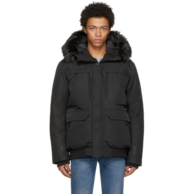 The North Face Black Down Cryos GTX Expedition Bomber Jacket