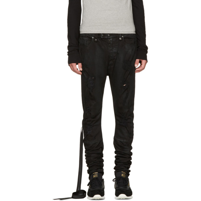 Image of Unravel Black Distorted Jeans