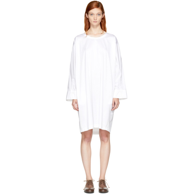Image of Nehera White Deron T-Shirt Dress