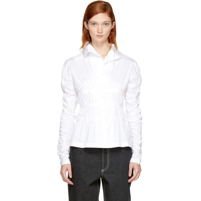 Image of Nehera White Til Gathered Turtleneck