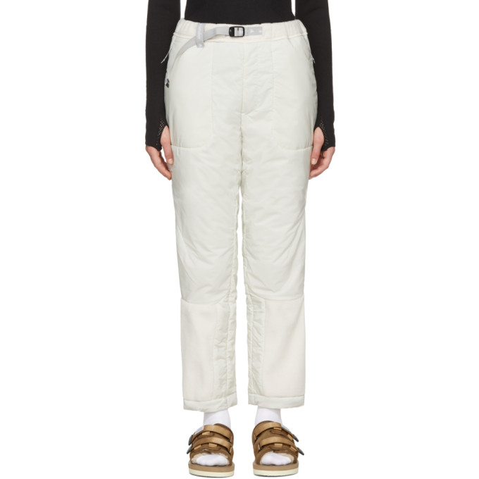 Image of and Wander Off-White Fleece Primaloft Trousers