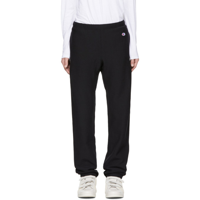 Champion Reverse Weave Black Small Logo Lounge Pants