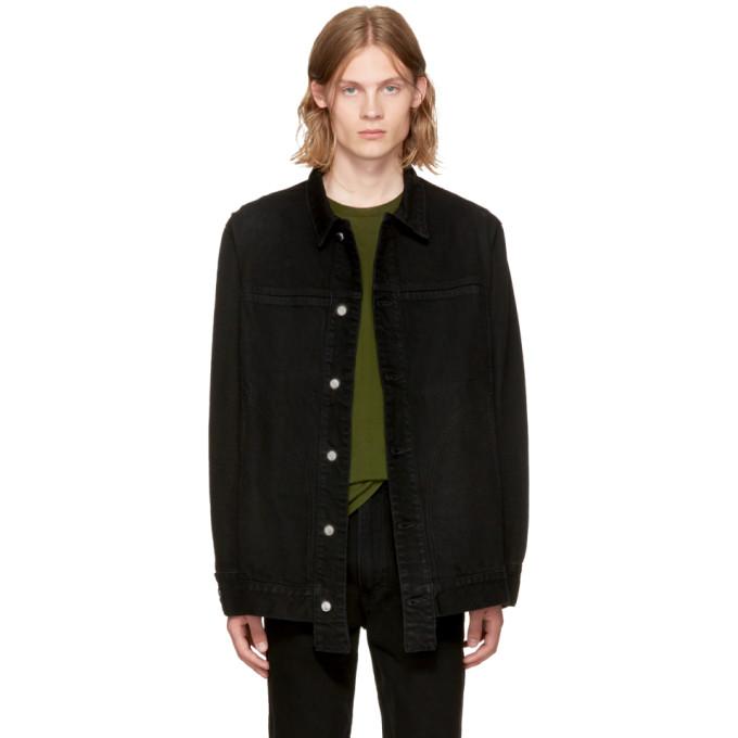 Eckhaus Latta Black Classic Denim Jacket