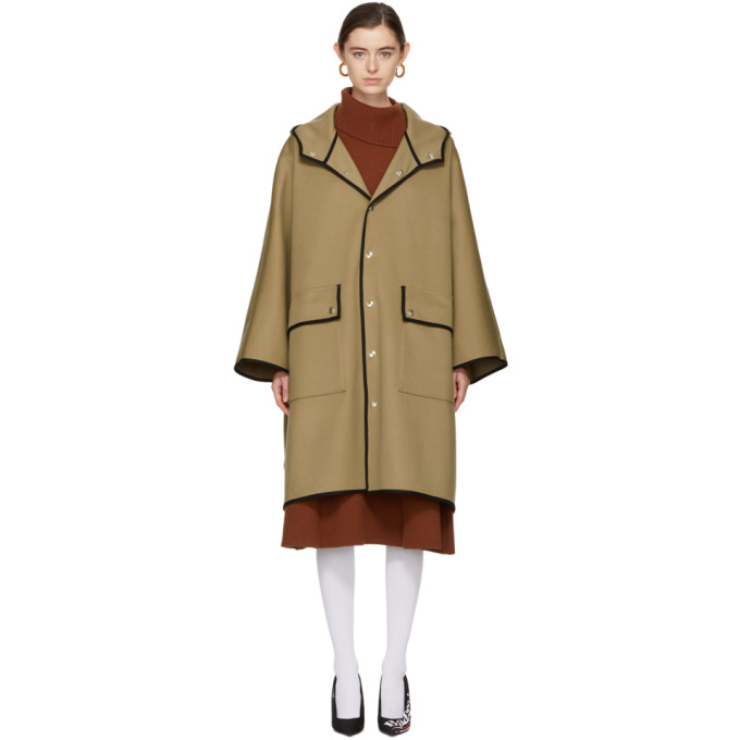 Image of Mackintosh Beige Wool Cape Coat