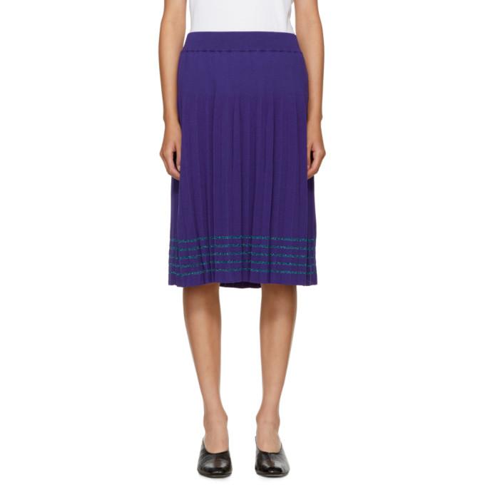 Image of Harikae Blue Pleated Skirt