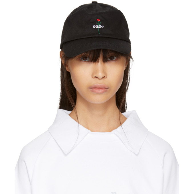 032c SSENSE Exclusive Black Rose Cap