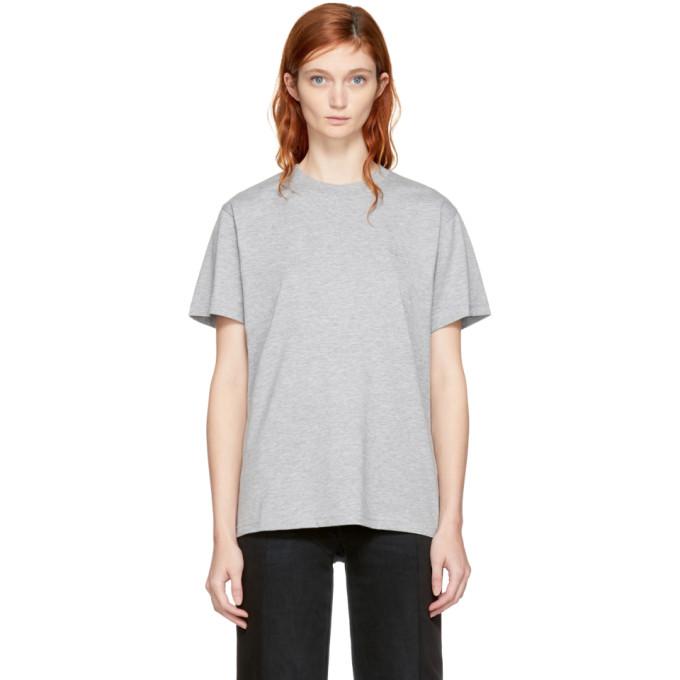 032c Grey Crystal Logo T Shirt 172843F11000301