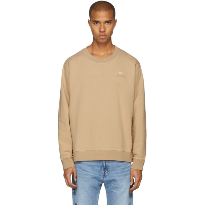 Image of 032c Beige Crystal Crewneck Sweatshirt