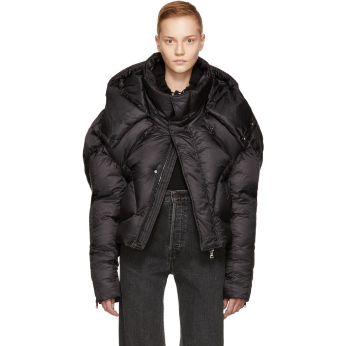 Image of Chen Peng Black Short Quilted Puffer Jacket
