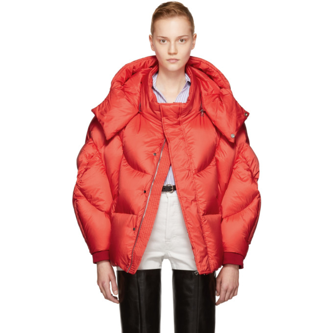 Image of Chen Peng Red Shell Puffer Jacket