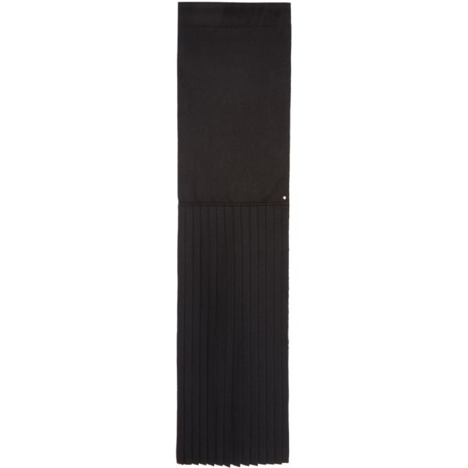 Image of Bless Black Pleated Plisséeedge Scarf
