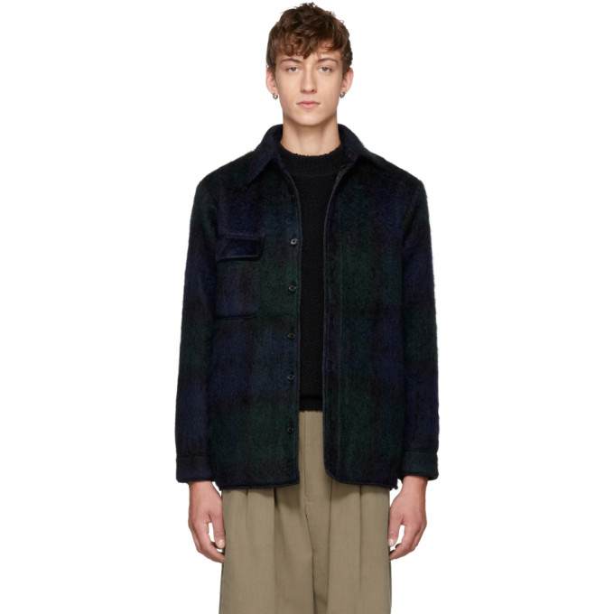 Bless Reversible Navy & Green Mohair Woodhacker Jacket