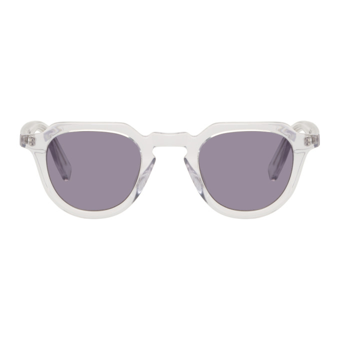 Image of all in Transparent & Grey Voltaire Sunglasses
