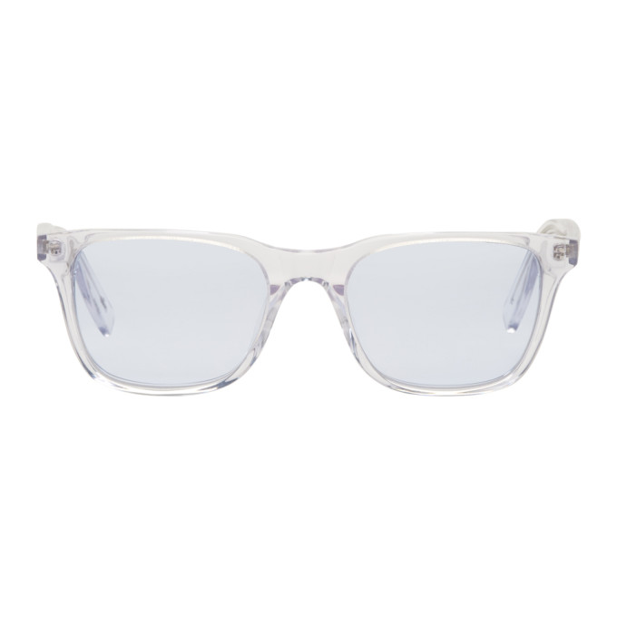 Image of all in Transparent & Blue York Sunglasses