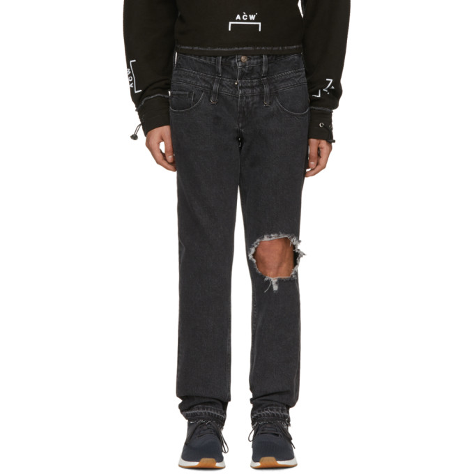 Image of Midnight Studios Black Guess Edition Slim Tapered Jeans