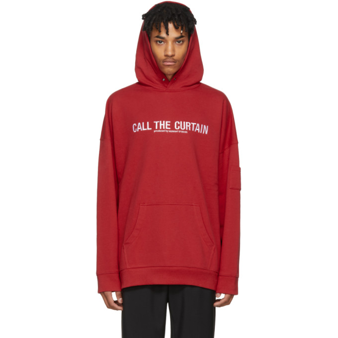 Image of Midnight Studios Red 'Call The Curtain' Hoodie