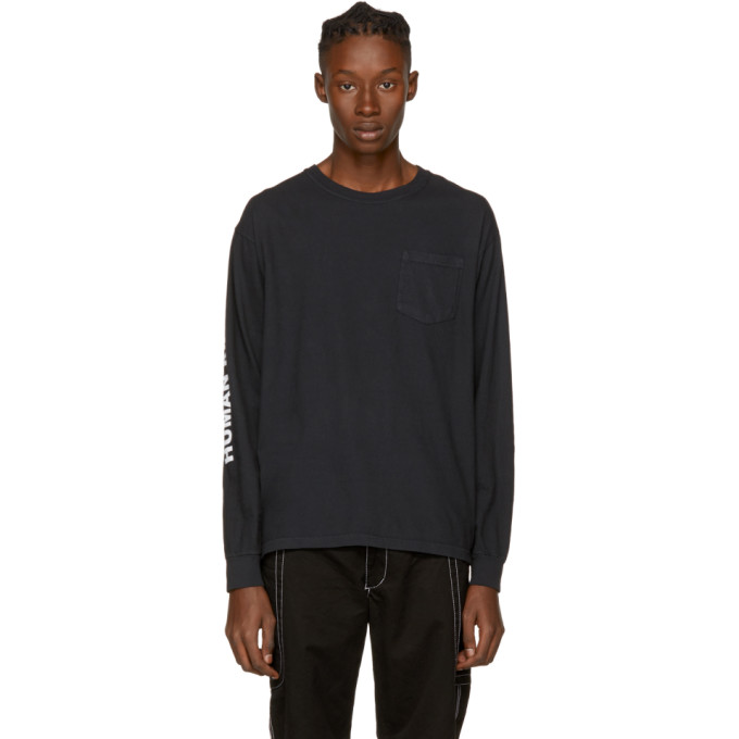 Image of Noah NYC Black 'Human Rights' Pocket T-Shirt