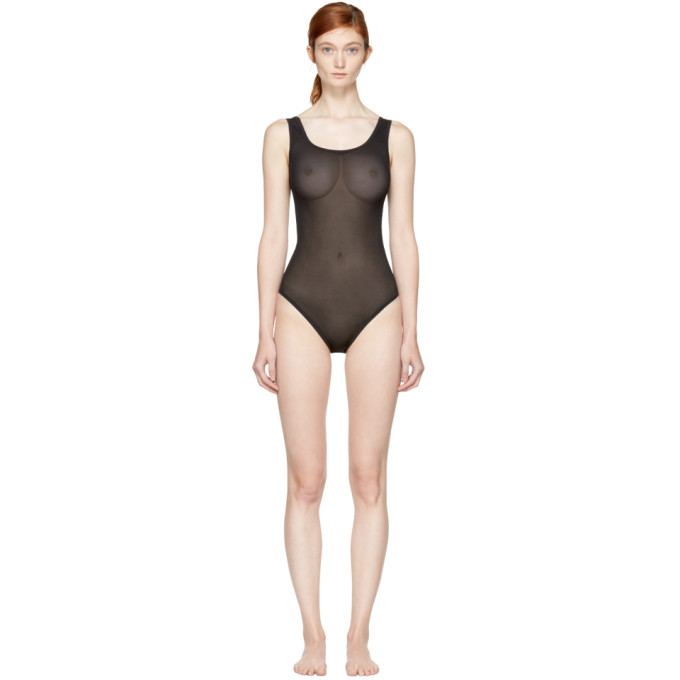 Image of Land of Women Black Mesh Bodysuit