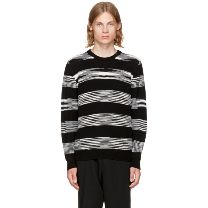 Image of Missoni Black & White Crewneck Sweater