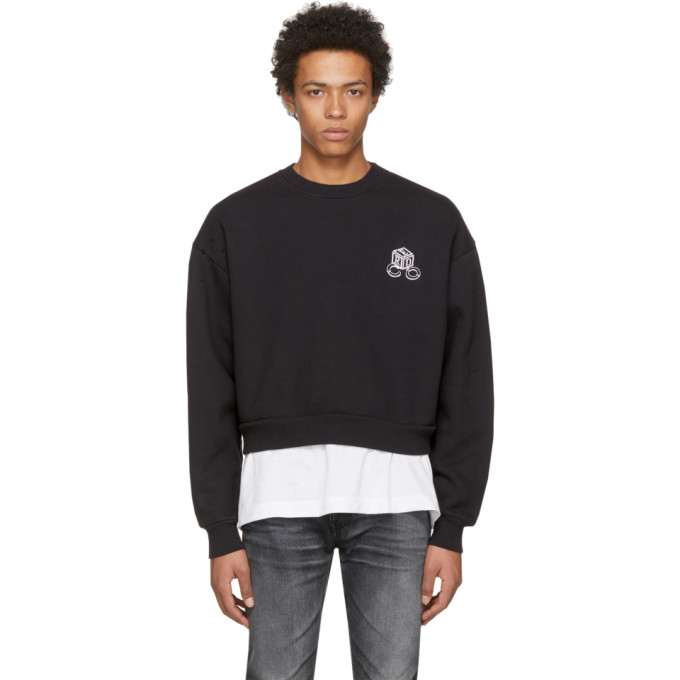 Image of Enfants Riches Déprimés Black 'High Risk Low Risk' Sweatshirt