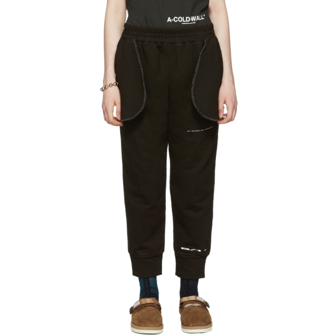 Image of A-Cold-Wall* Black Compressed Logo Lounge Pants