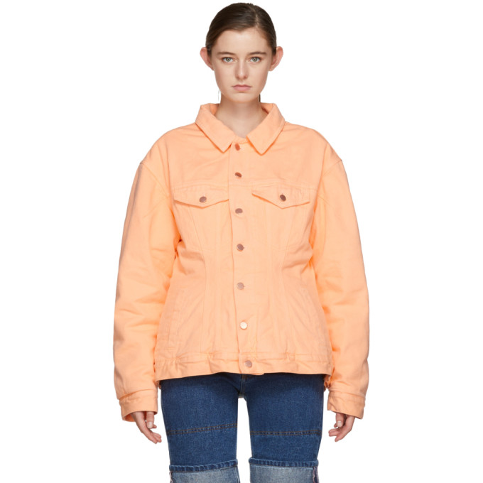 Image of Martine Rose Pink Darted Denim Jacket