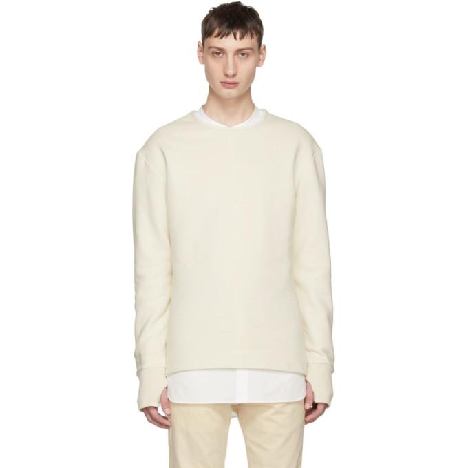 Image of Hed Mayner Beige Crewneck Sweatshirt