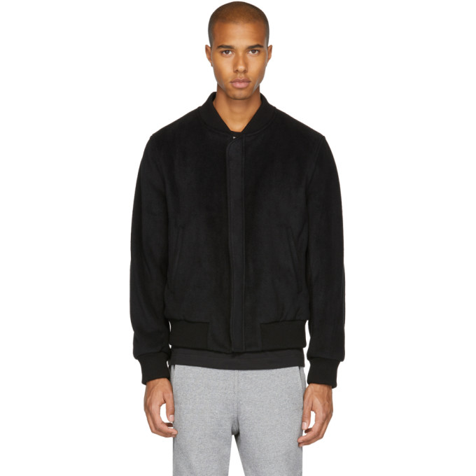Image of Childs Black Fleece Bomber Jacket