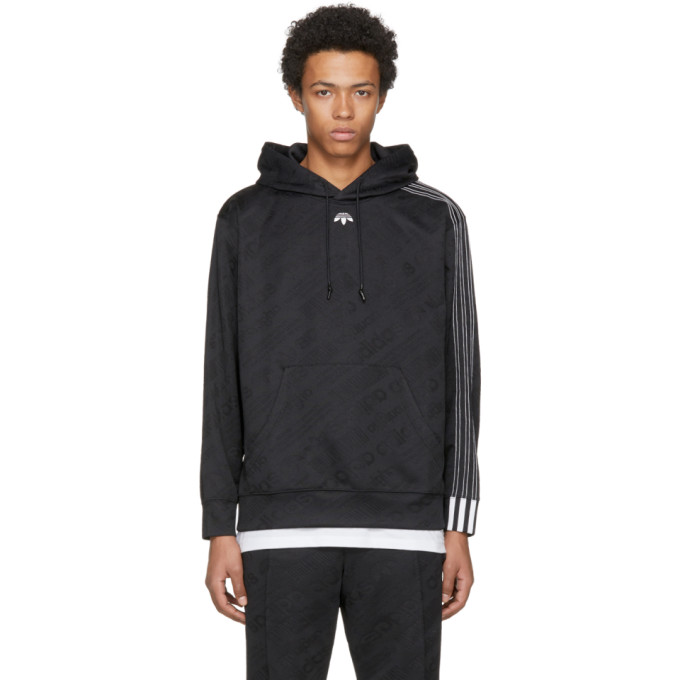 Image of adidas Originals by Alexander Wang Black AW Jacquard Hoodie