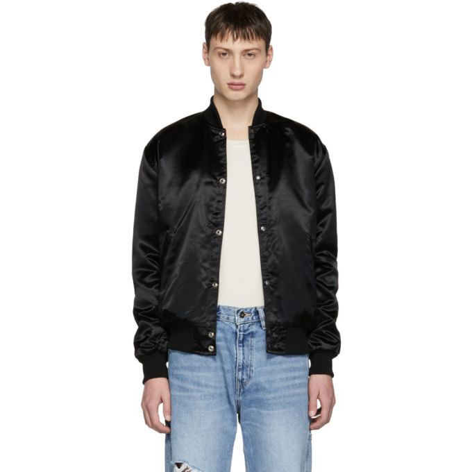 Image of Rhude Black Essential Rhestarter Bomber Jacket