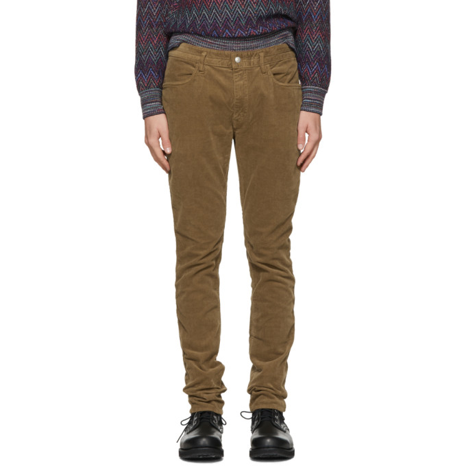 NONNATIVE | Nonnative Brown Tapered Dweller Jeans | Goxip