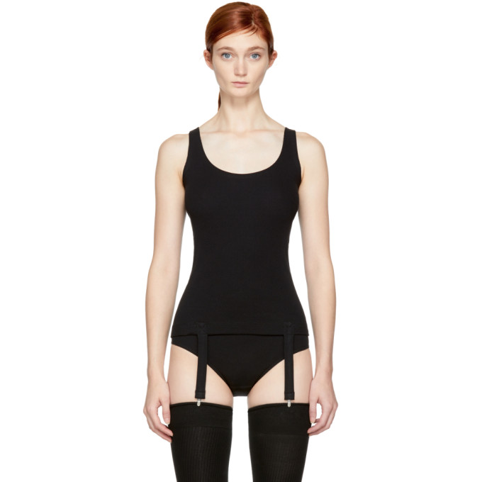 Image of Marieyat Black Niina Suspenders Tank Top