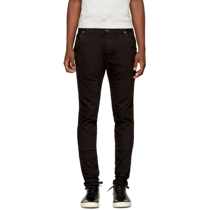 Image of The Viridi-anne Black Patchwork Jeans