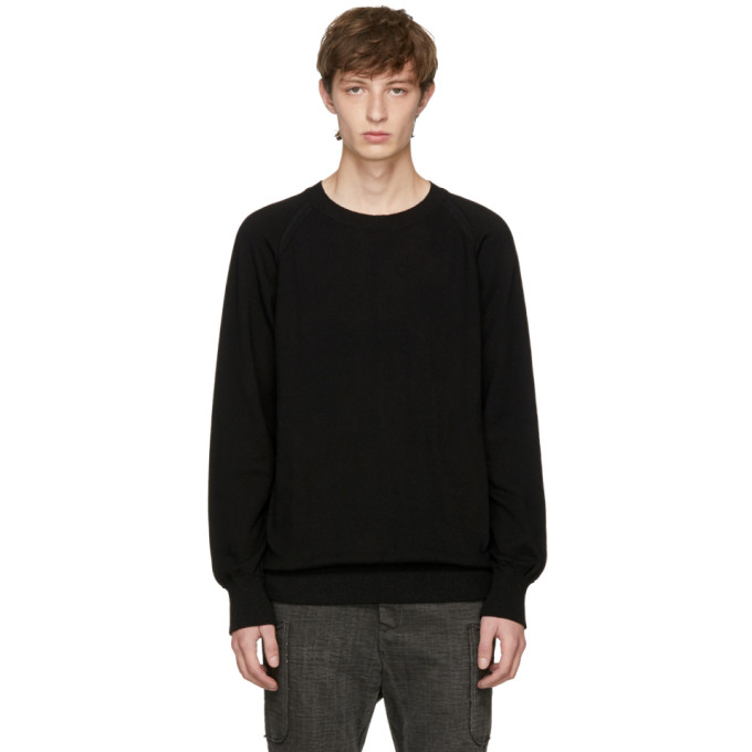 Image of The Viridi-anne Black Cotton Crewneck Sweater