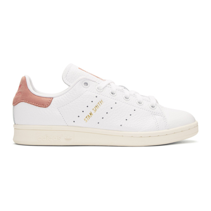 Image of adidas Originals x Pharrell Williams White & Pink Stan Smith Sneakers