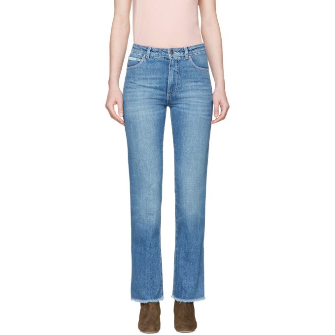 Image of Alexachung Blue Crop Jeans