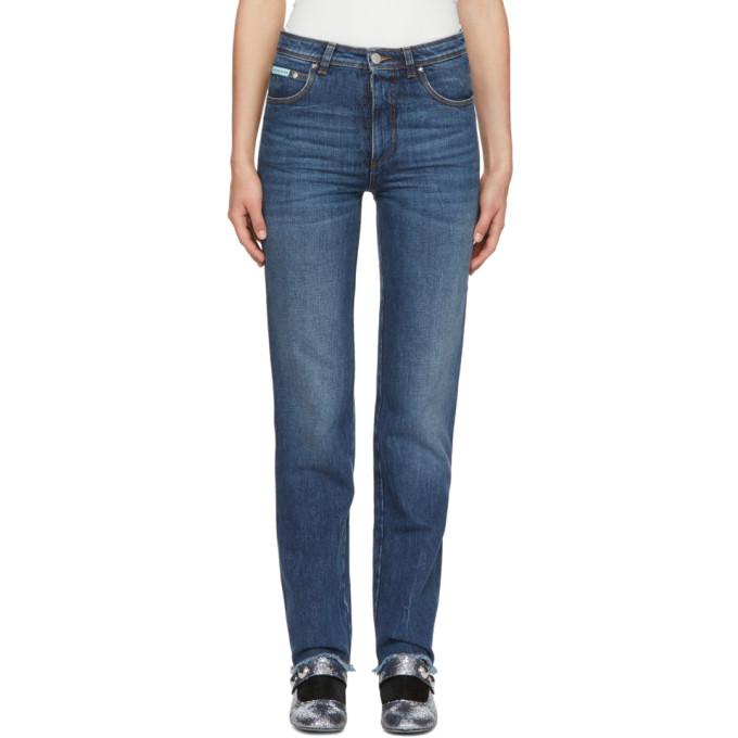 Alexachung Blue Triple Stitch Frayed Jeans