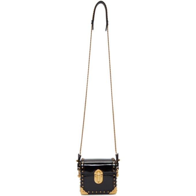 Prada Black Patent Box Bag