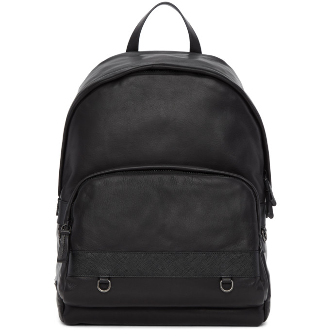 Prada Black Leather Backpack