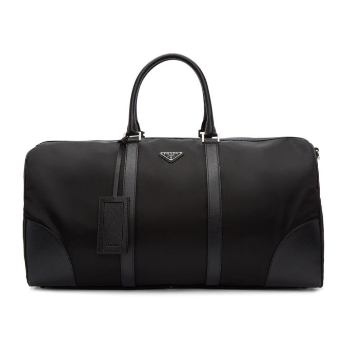 Prada Black Nylon Duffle Bag
