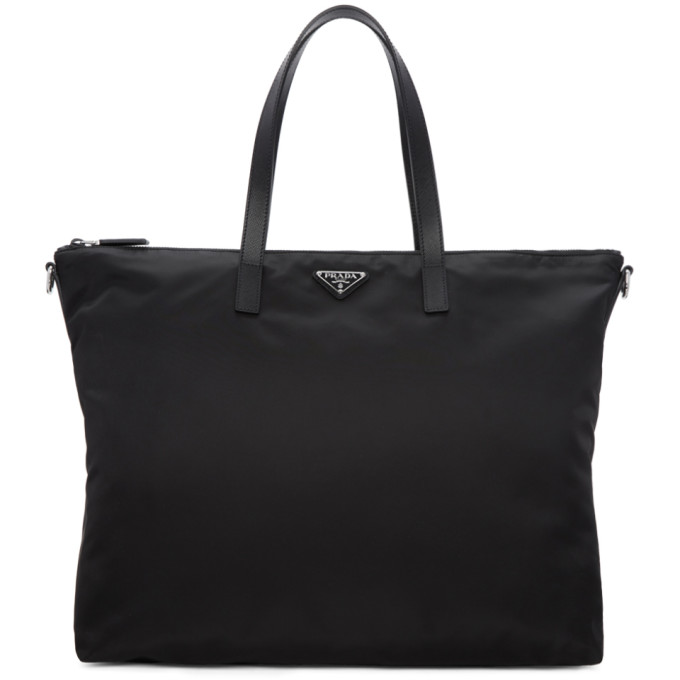 Prada Black Nylon Travel Tote
