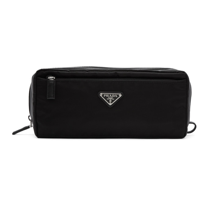 Prada Black Logo Toiletry Pouch