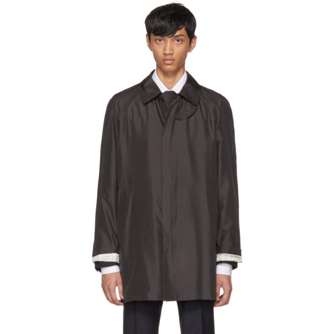 Prada Grey Raglan Mac Jacket