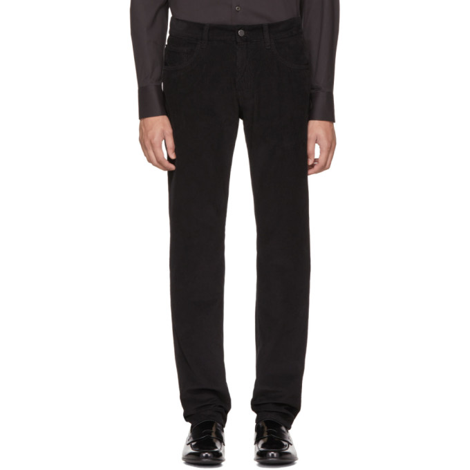 Prada Black Corduroy Trousers