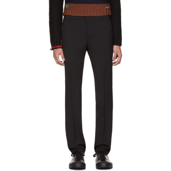 Prada Black Tela Bi-Stretch Cuffed Trousers
