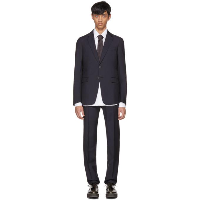 Prada Navy Tela Mohair Suit
