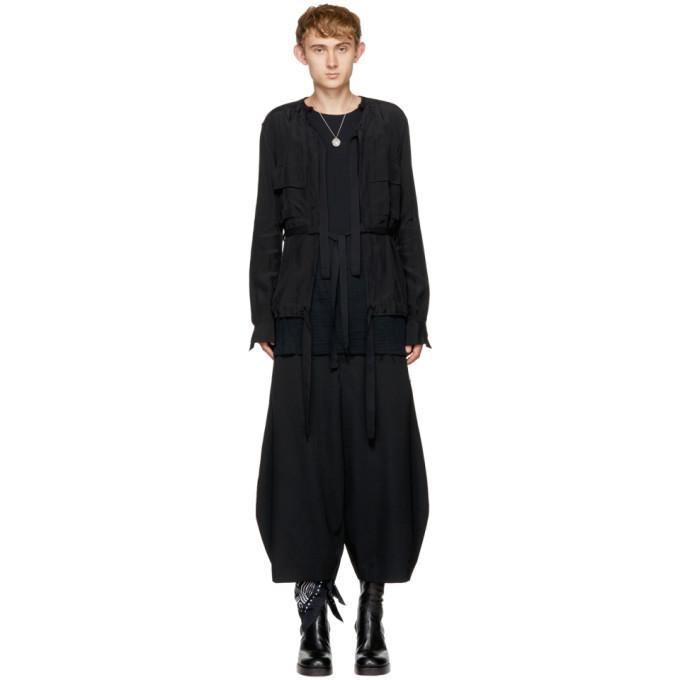 Image of TAKAHIROMIYASHITA TheSoloist. Black Collarless Shirt